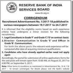 RBI Corrigendum 2017-18 www.indgovtjobs.in