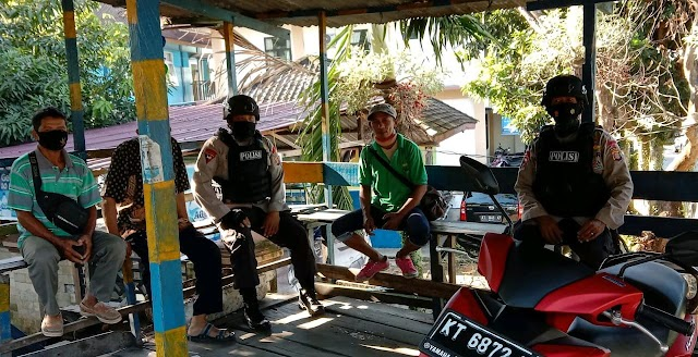 Jalin Kemitraan Brimob Polda Kaltim Patroli Sambang Ke Pangkalan Ojek