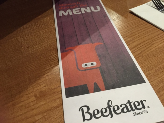beefeater menu