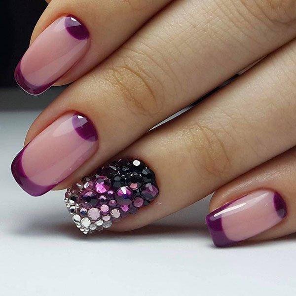 70 Purple Christmas Nail Art Designs Ideas For Winter Styles Art