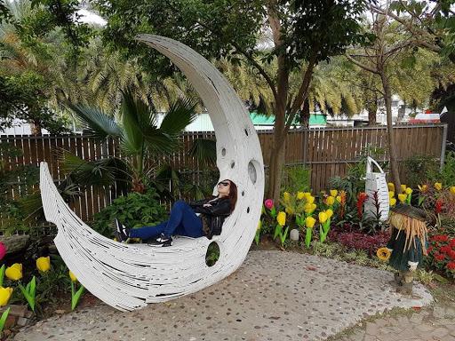 Paper moon at Carton King Creativity Park in Taichung Taiwan