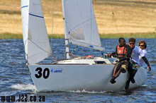 J/22 sailing one-design sailboat- South Africa