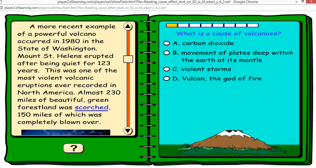 [K5+nonfiction+comprehension+4th+grade+cause+and+effect+screenshot%5B3%5D]