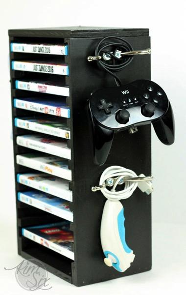 Wii controller storage