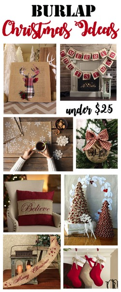 Burlap Christmas Ideas Under $25