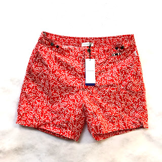 DANWARD NEW Ibiza Tailored Swim Short in Red Coral