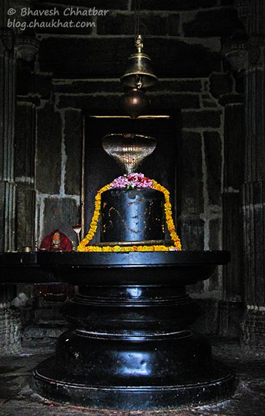 Shivling inside the Neelkanth Mahadev Temple at Kumbhalgarh