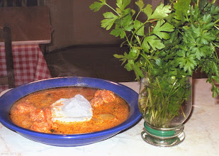Photo: Zupa z kiełbasy z jajkami w koszulkach - Kolbászleves buggyantott tojással (Erdélyi Konyha kalendárium 2014) - 08