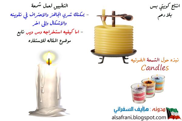 نبذه الشمع الشموع المنزليه المواد