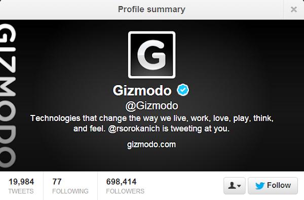 Gizmodo: @Gizmodo