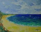 129 - Plum Bay - 2003 18 x 14 - Acrylique sur toile