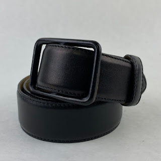 Giorgio Armani Black Leather Belt