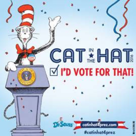 Dr. Seuss Vote Election Cat in the Hat President sq