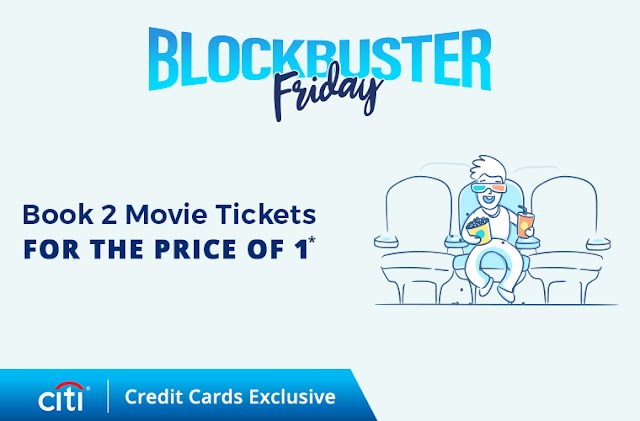 Paytm - Get 100% Cashback upto Rs.500 on Booking Movie Tickets via City Bank Credit Cards (Every Friday)