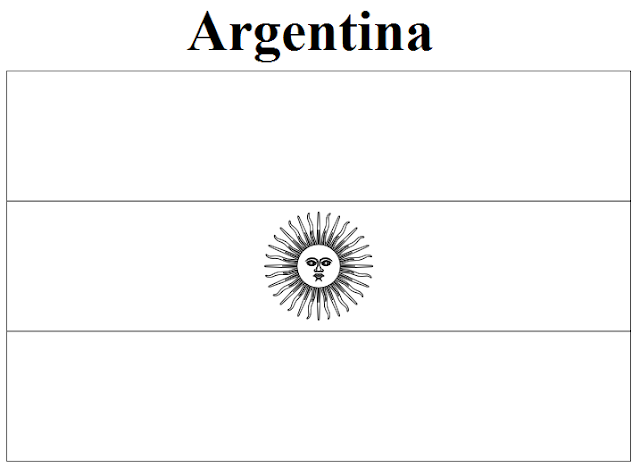 Geography Blog Argentina Flag Coloring Page