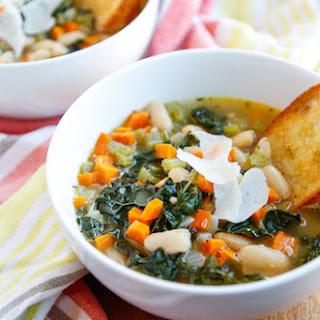 Creamy Tuscan White Bean Soup.