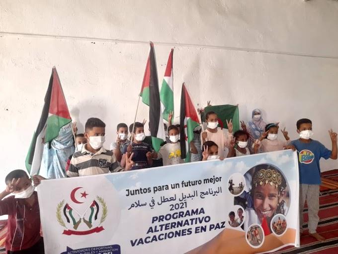 """Con un mes de retraso por Covid, arranca en los campamentos el programa alternativo """"Vacaciones en Paz"""" para los niños saharauis."""