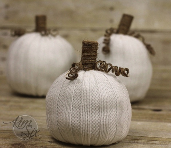 Knit no sew pumpkins