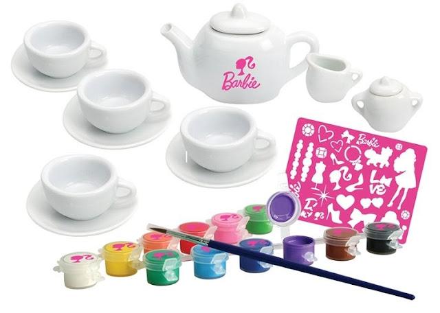 Bộ dụng cụ thiết kế ấm trà Barbie