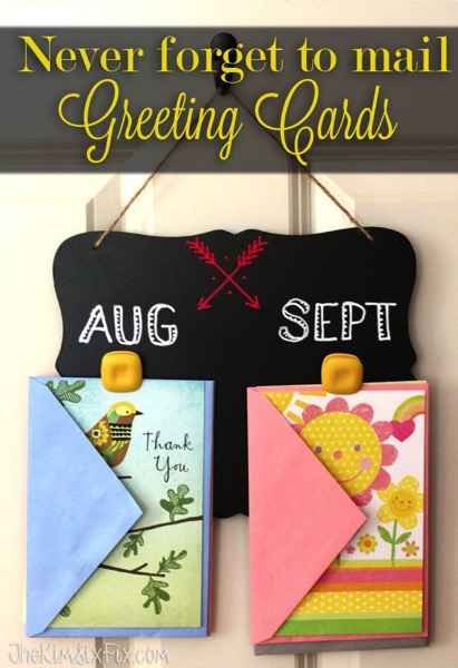 How to organize greeting cards so you never forget to mail them