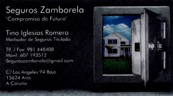 Seguros Zamborela, colaborador coa A.D.R. Numancia de Ares.