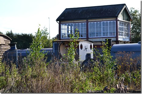 10 signal box and engine at brownhills west station chasewater resr