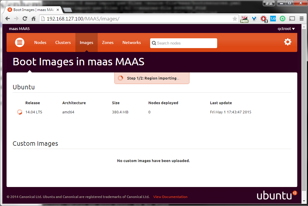 Importing Ubuntu 14.04 LTS amd64 boot image