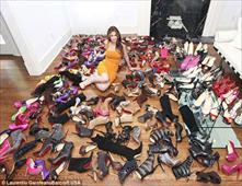 امرأة تمتلك احذية بقيمة مليون دولار