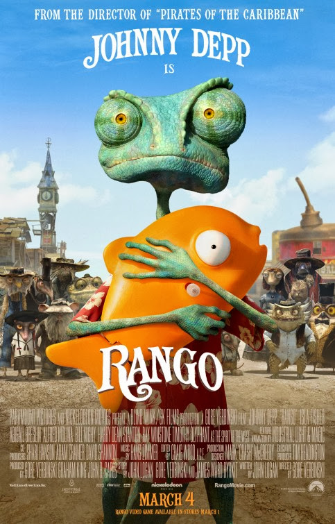 Poster Of The Rango (2011) Full Movie Hindi Dubbed Free Download Watch Online At Alldownloads4u.Com