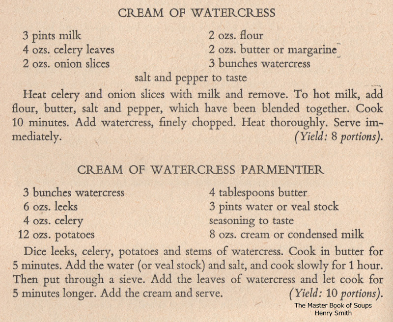 Cream of Watercress Parmentier