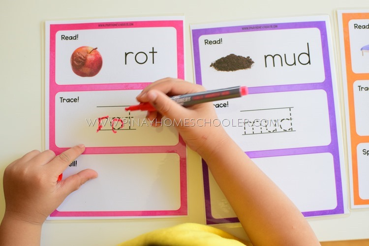 CVC Word Mats (Trace and Spell)