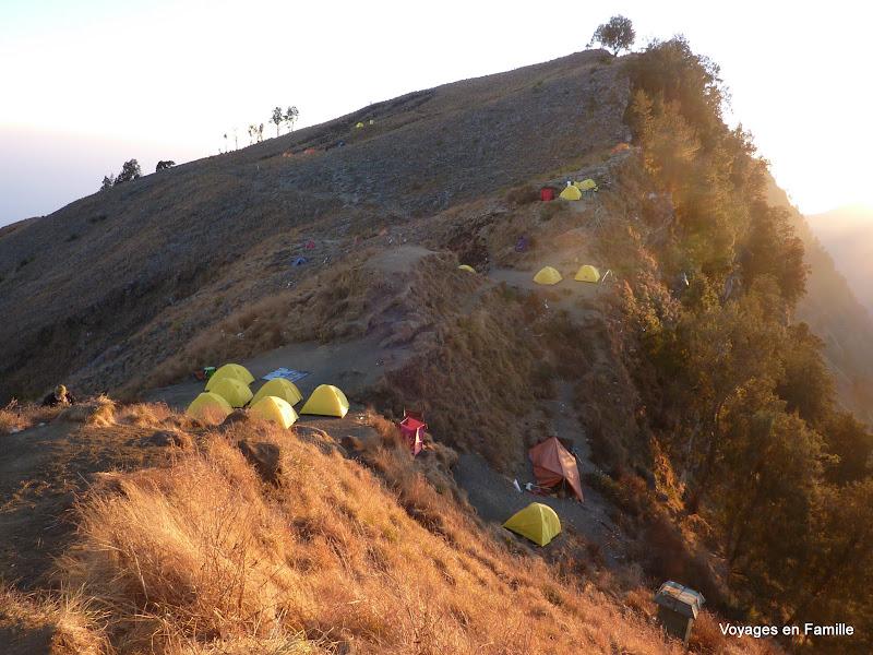 Crater rim campsite