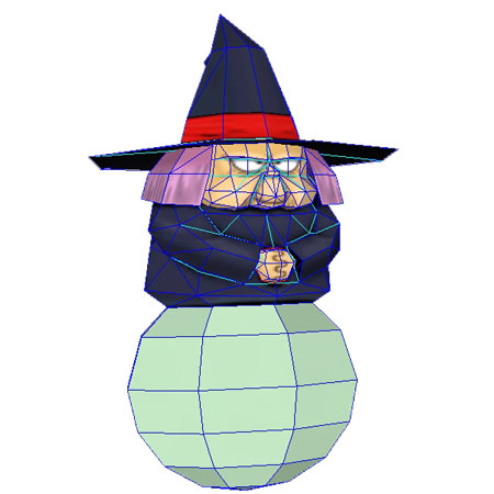 Dragon Ball Fortuneteller Baba Papercraft