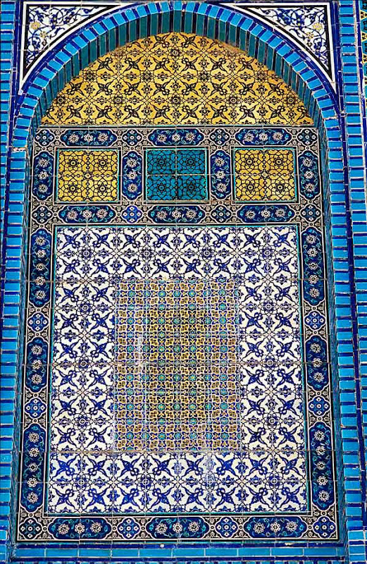 8. Wall ornament. Detail. Dome of the Rock. Old City of Jerusalem