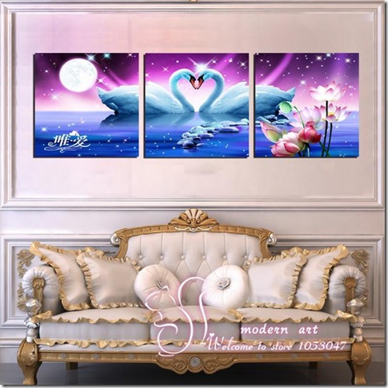 ภาพกรอบลอย ชื่อ หงส์คู่รัก เสริม ฮวงจุ้ย มงคล โชคลาภ ความสวยงามแก่บ้าน 2