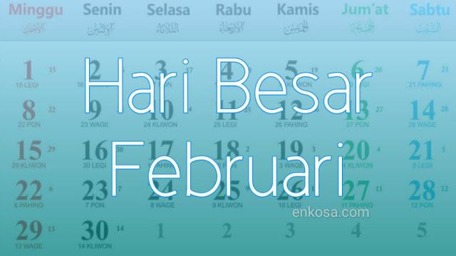 Daftar Hari Besar Nasional Bulan Februari 2020