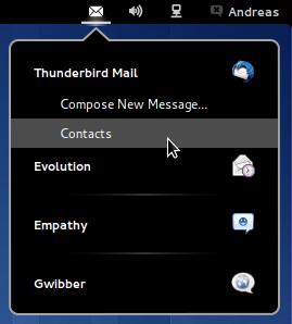Messaging Menu su Gnome Shell