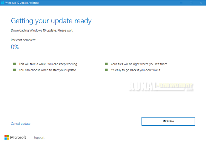 4. Getting your update ready (www.kunal-chowdhury.com)