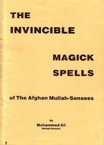 Cover of Muhammad Ibn Arabi's Book Invincible Magick Spells Of The Afghan Mullah Sensees