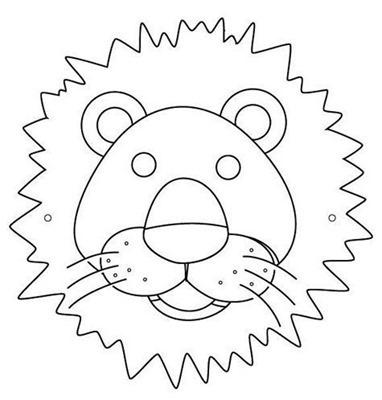 LEON 7mascara de animales  para colorar (24)_thumb
