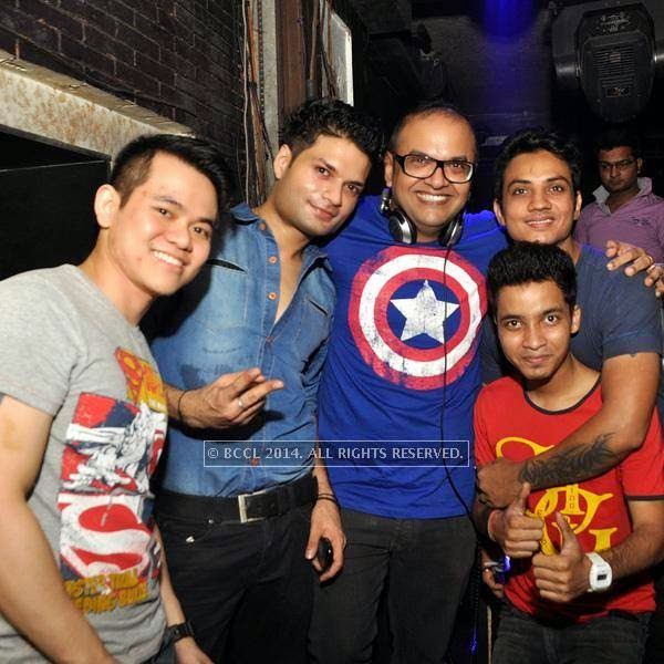 DJs Fleix, Vikrant, Sanjay, Varun and Joy during the Saturday night at Underground in Kolkata.