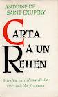 Portada de Carta a un Rehén - Antoine de Saint-Exupéry