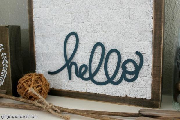 hello sign #makeitfuncrafts