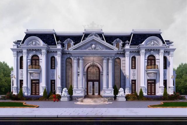 Mẫu thiết kế biệt thự tráng lệ ở Sóc Sơn