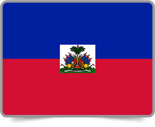 Haitian framed flag icons with box shadow