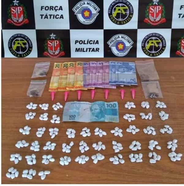 PM prende homem com 223 papelote de crack no Águas Claras em Araçatuba