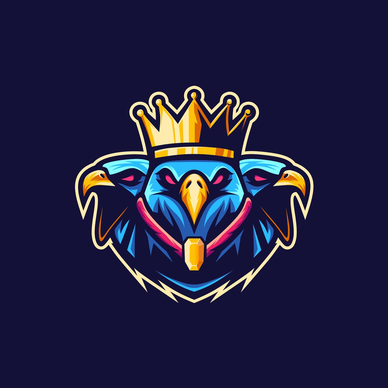 King Eagle Vetor Logo Illustration Free Download Vector CDR, AI, EPS and PNG Formats