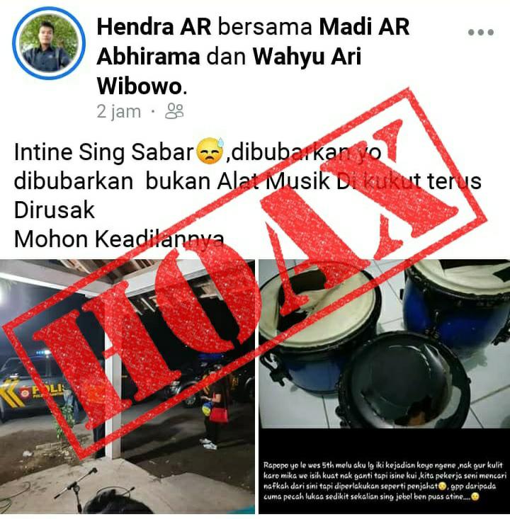 Berita Viral Perusakan Ketipung Oleh Petugas Gabungan Polsek Gantiwarno Tidak Benar