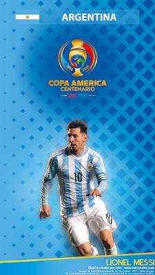 Wallpaper Copa América 2016 – Argentina (Lionel Messi) - 720x1280