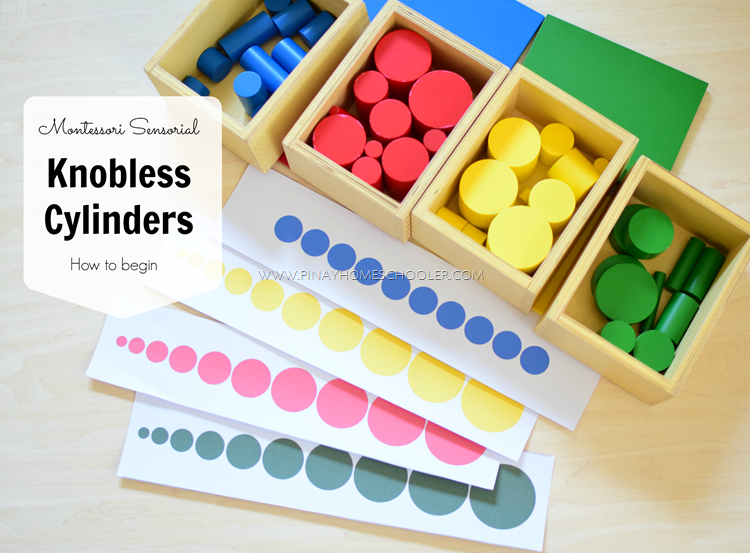 Montessori Knobless Cylinders Sequencing